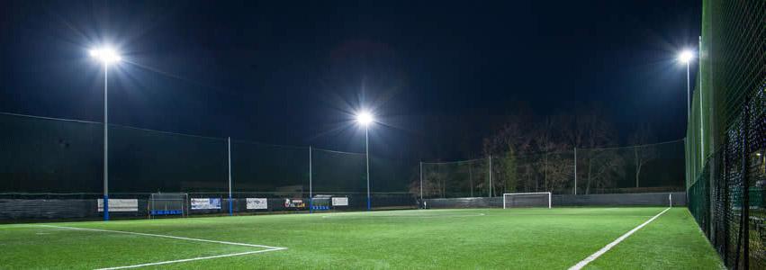 Illuminazione campi di calcetto